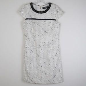 Karl Lagerfeld Chain Neck Tweed Dress 8